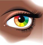 Eye with rainbow Stock Photography