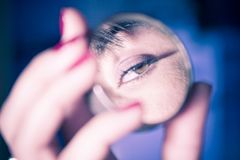 Eye reflection Stock Photography