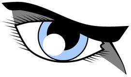 Eye with resolute look isolated Royalty Free Stock Photos