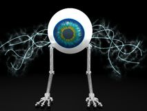 Eye robot with electric wires Royalty Free Stock Photo