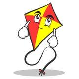 Eye roll red kite character cartoon Stock Photos