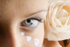 The eye and the rose Royalty Free Stock Images