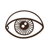 Eye rough symbol. Royalty Free Stock Photo