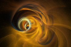 Eye of Sandstorm. A swirling flame fractal vortex in rich sand-colored tones Stock Photography