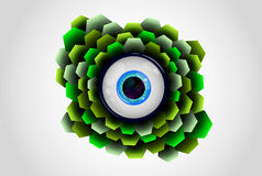 Eye in the scales. Highly detailed image of the eye. Vector Royalty Free Stock Images