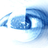 Eye scan. On a soft blue background Royalty Free Stock Image