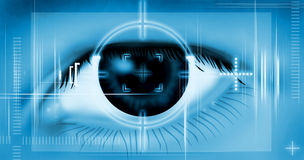 Eye Scan Royalty Free Stock Images