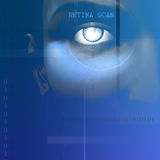 Eye Scan. Of retina with tech abstract Royalty Free Stock Photo