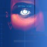Eye Scan. Retina scan tech blue composition Stock Photography