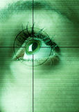 Eye scan. High-tech technology background with targeted eye scan Stock Photo