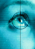 Eye Scan. High-tech technology background with targeted iris eye scan Stock Photography
