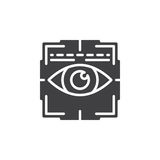 Eye scan icon vector, filled flat sign. Solid pictogram isolated on white. Iris scanner symbol, logo illustration Royalty Free Stock Photo