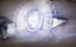 Eye scanning Royalty Free Stock Images
