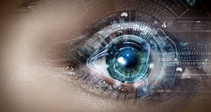 Eye scanning Stock Photography