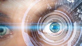 Eye scanning Stock Image