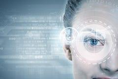 Eye scanning Stock Images