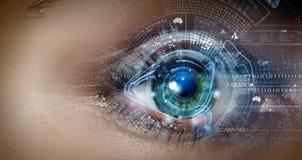 Eye scanning Stock Photography