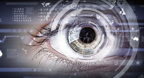 Eye scanning. Concept image Stock Photography