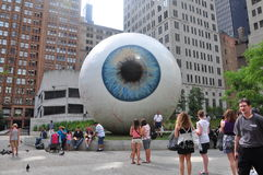 Eye Sculpture Royalty Free Stock Photo