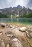 Eye of the Sea lake in Tatra mountains Stock Photos