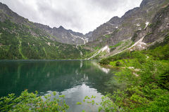 Eye of the Sea lake in Tatra mountains Royalty Free Stock Photos