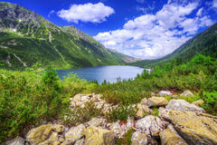 Eye of the Sea lake in Tatra mountains Royalty Free Stock Image