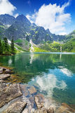 Eye of the Sea lake in Tatra mountains Royalty Free Stock Photography