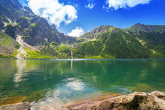 Eye of the Sea lake in Tatra mountains Stock Images