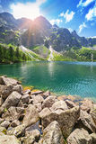 Eye of the Sea lake in Tatra mountains Royalty Free Stock Photo
