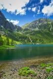 Eye of the Sea lake in Tatra mountains Royalty Free Stock Photo