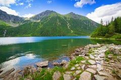 Eye of the Sea lake in Tatra mountains Stock Image