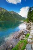 Eye of the Sea lake in Tatra mountains Royalty Free Stock Photos
