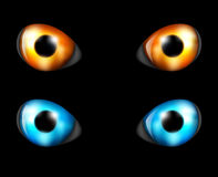 Eye set in the dark Stock Photo
