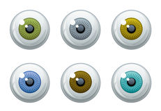 Eye set Royalty Free Stock Photography