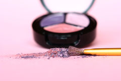 Eye shadow. And brush Royalty Free Stock Images