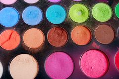 Eye shadow. This stock photo is a close up view of a eye shadow palette with assorted colors Royalty Free Stock Image