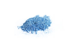 Eye shadow. Blue eye shadow on a white background Stock Photo