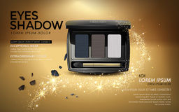Eye shadow ads Royalty Free Stock Images
