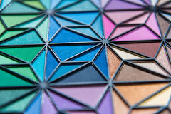 Eye Shadow Bright Colors. Multiple Bright Colors of Eye Shadow in a triangular pattern Stock Image
