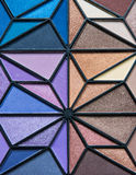 Eye Shadow Bright Colors. Multiple Bright Colors of Eye Shadow in a triangular pattern Royalty Free Stock Photo
