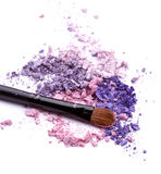 Eye shadow with brush Royalty Free Stock Image