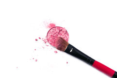 Eye shadow and brush Stock Photo