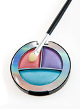 Eye Shadow color disk Royalty Free Stock Image