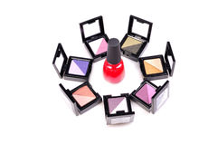 Eye shadow compact case Royalty Free Stock Photos