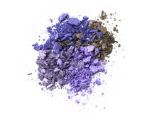 Eye shadow crushed sample Stock Image
