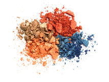 Eye shadow crushed sample Stock Photography