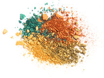 Eye shadow crushed sample Royalty Free Stock Photos
