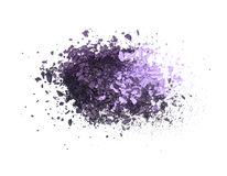 Eye shadow crushed sample. Purple mix eye shadow crushed sample isolated on white stock photography