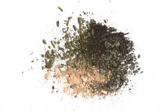 Eye shadow crushed samples. Isolated on white royalty free stock image