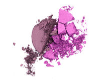Eye shadow crushed samples isolated Stock Image